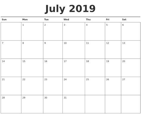 printable monthly calendar 2019 december 2019 printable monthly calendar