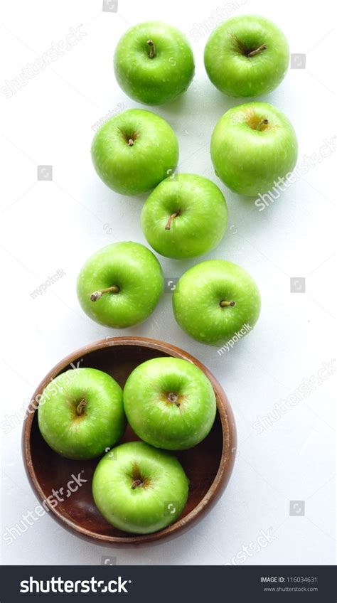green apple great english green apples top view stock photo 116034631 shutterstock