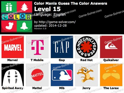 guess the color answers color mania guess the color level 15 solver
