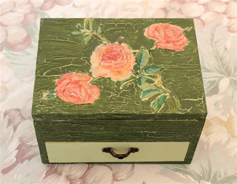 Decoupage Techniques Ideas - diy project shabby chic decoupage storage box