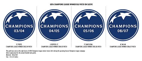 Patch Badge Uefa Eropa League 2002 2009 football teams shirt and kits fan patch chions league