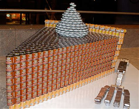 canned food sculpture ideas nyc nyc canstruction 2009 sculptures made from cans of food at the world financial center s