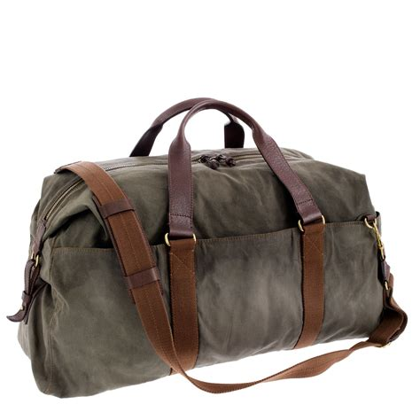 A Weekend Bag For The by J Crew Abingdon Weekender Bag In Green For Olive