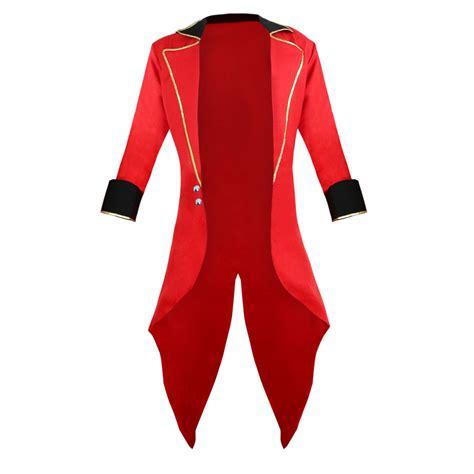 mens ringmaster costume burlesque men s red ringmaster tailcoat jacket n14550