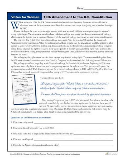 Amendments Worksheet by 2nd Amendment Worksheet