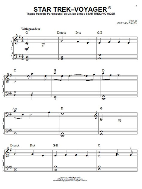 theme music now voyager star trek voyager r sheet music direct