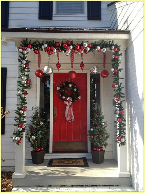 decorations for christmas front porch christmas decorations home design ideas
