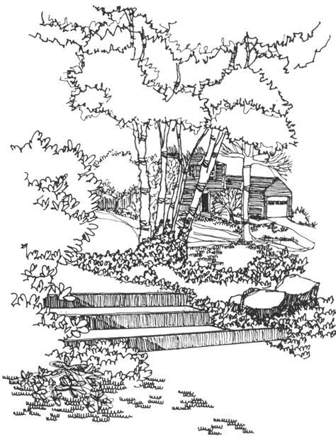 Landscapes Coloring Part 6 Berkshire Botanical Garden Drafting For Garden Design