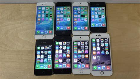 ios 9 beta vs ios 8 3 iphone 6 vs iphone 5s vs iphone 5 vs iphone 4s benchmark speed test