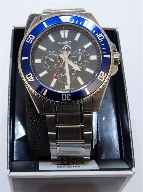 Casio Diver Mdv 100 Original mdv 303d 1a2 casio s duro diver black blue bezel