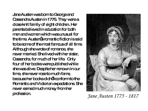 biography jane austen short jane austen powerpoint