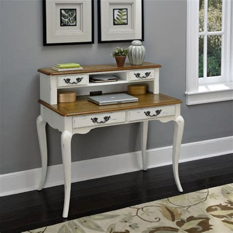 White Student Desk With Hutch Home Office The Countryside 42 W Oak And Rubbed Black Or White Student Desk Available