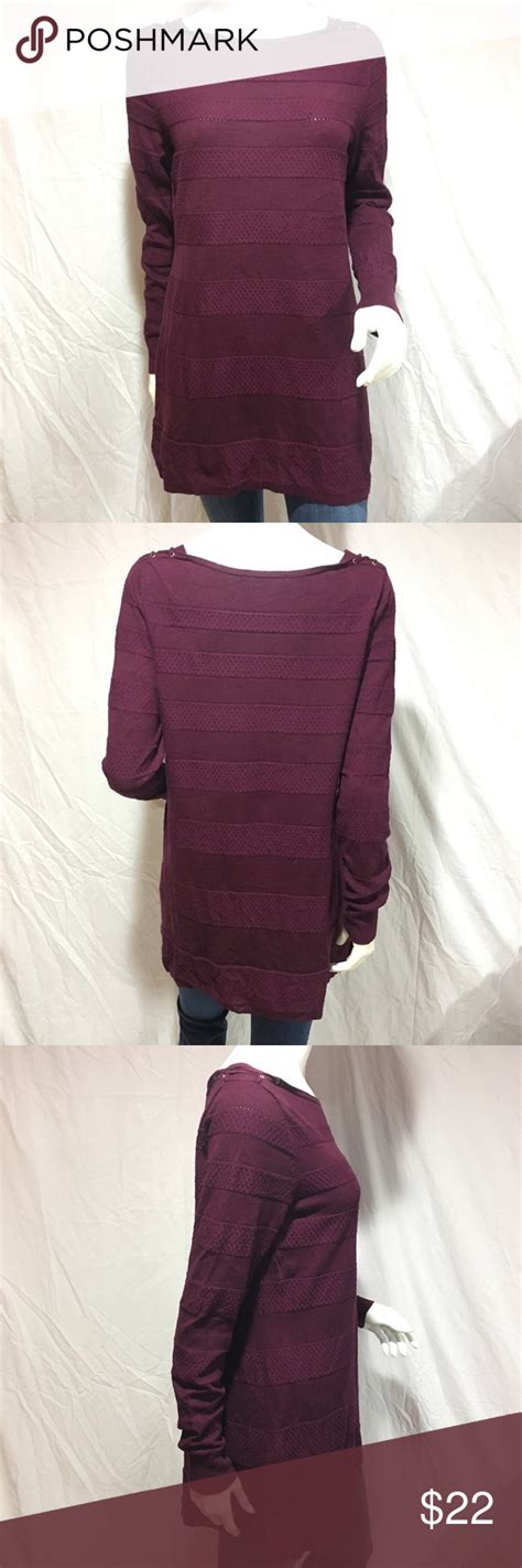 wine colored sweater whbm sweater tunic adorable white house black market wine