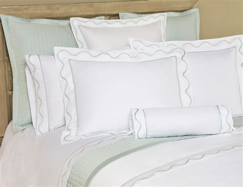 scalloped bedding home treasures amalfi bound inset scallop bedding collection