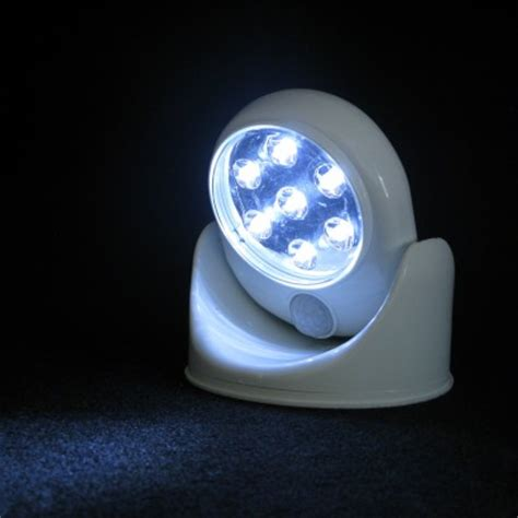 motion activated cordless light battery operated motion sensor light with pivoting