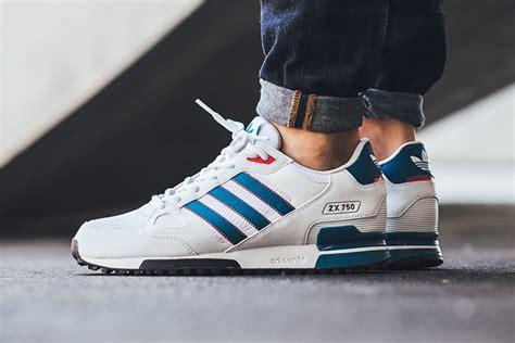Adidas Zx 750 Blue White adidas zx 750 white blue sneaker freaker