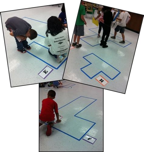 area and perimeter using floor tiles and