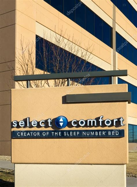 select comfort corporate address selecione o sinal e a sede de conforto fotografia de