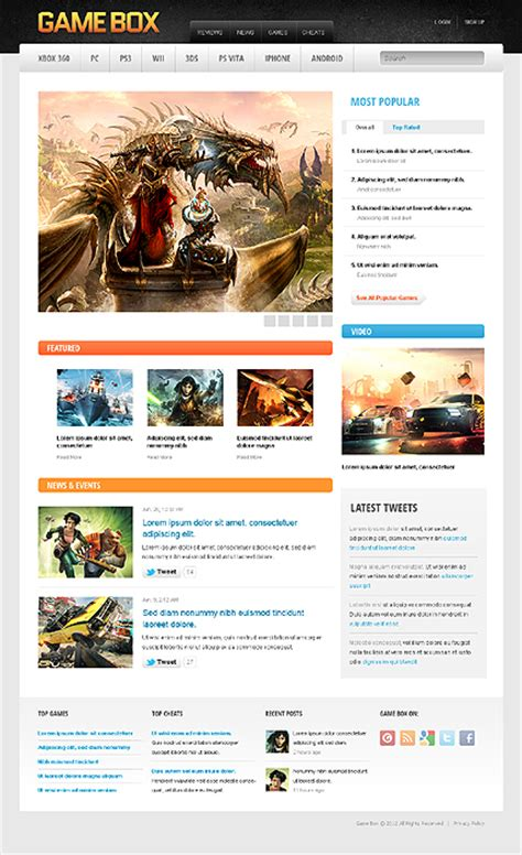 drupal themes job portal 30 game portal themes to expose your greater creativity