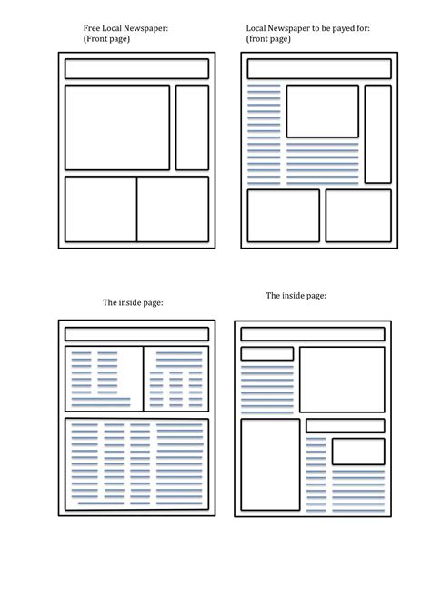 newspaper layout dummy blank newspaper template cyberuse