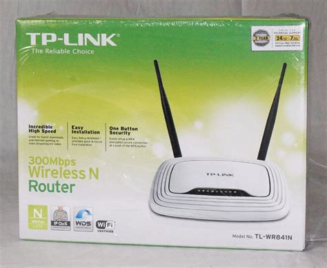 tp link tl wr841n wireless n300 home router 300mbps new