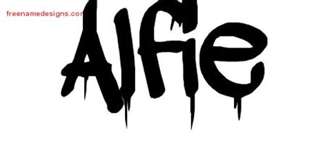alfie tattoo designs graffiti name designs alfie free free name designs