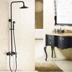 glen rubbed bronze wall mounted rainfall shower