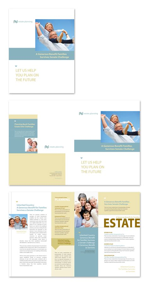Estate Planning Brochure Template Estate Planning Templates