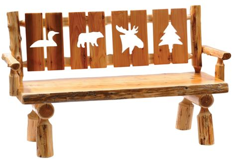 log benches with backs cedar 60 quot cut out back armrests log bench from fireside lodge 16132 coleman
