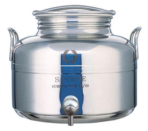 contenitori con rubinetto sansone contenitore inox lt 5 con rubinetto contenitori
