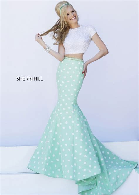 pearl modiadias dress 2015 sherri hill 32226 pearl beaded two piece mermaid prom