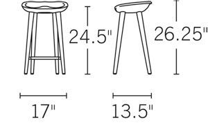 dwr bar stools design within reach tractor counter stool copycatchic tractor counter stool ash design within reach
