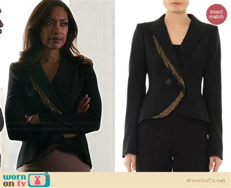 Blazer Black Giana 165 best suits style clothes by wornontv images on