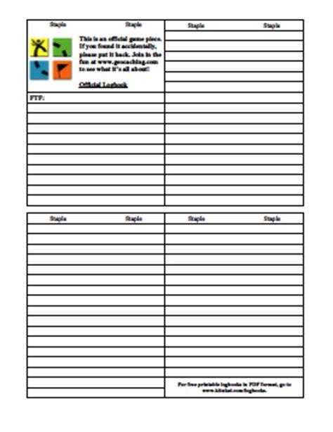 printable log book for geocaching untitled document www kitnkai com