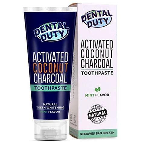 activated charcoal teeth whitening toothpaste  organic