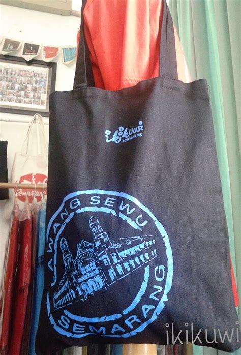 Totebag Kanvas Lukis souvenir souvenir khas semarang by ikikuwi
