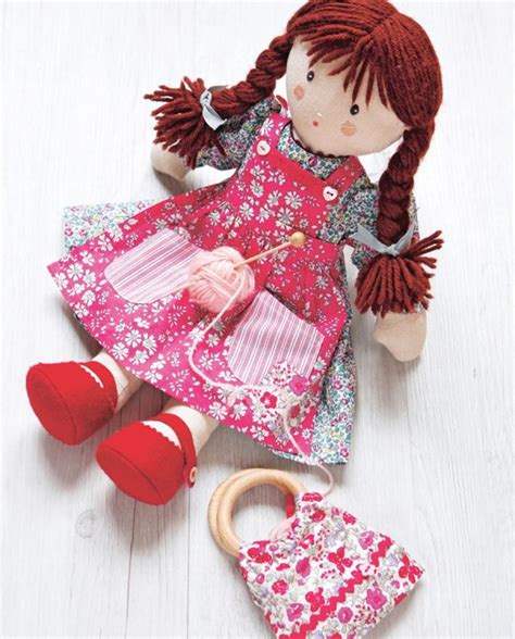 pattern fabric doll issue 2 digital downloads dolls free cloth doll