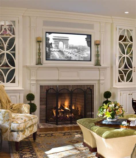 Tv Above Fireplace Mantel by 25 Best Ideas About Tv Fireplace On Tv