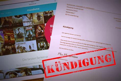 Adac Kfz Versicherung Per Email K Ndigen by Maxdome K 252 Ndigen Per E Mail In Genau 1 Minute Erledigt