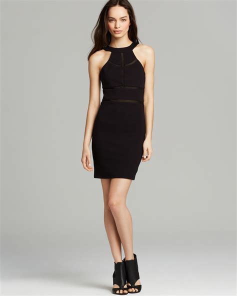 Guess Dress Spandek lyst guess dress monaco bodycon in black