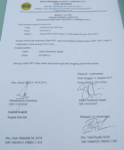 Contoh Berita Acara Hasil Pemilihan Ketua Osis Contoh Axi