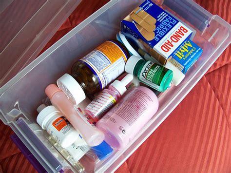 Shelf Of Benadryl by Emergency Box Medicines Emergency Preparedness Canada