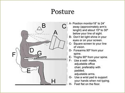 Correct Desk Height Acc Office Chairs And Back Pain