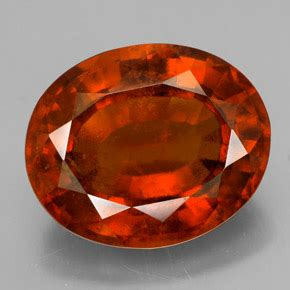 Spessartite Garnet 18 40ct orange hessonite garnet 10 4ct oval from madagascar
