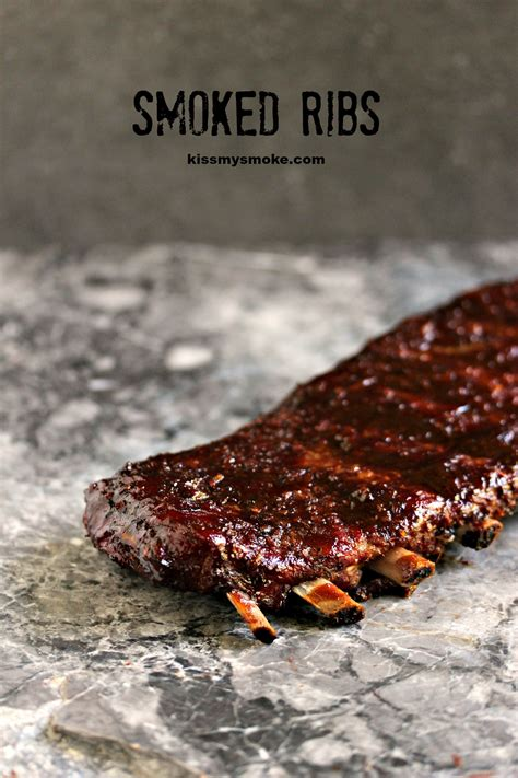 smoked ribs kiss my smoke