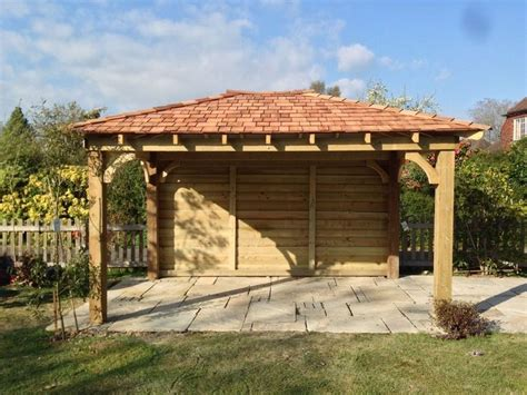 gazebo carport wooden gazebo 3m x 3m car port with cedar shingles built