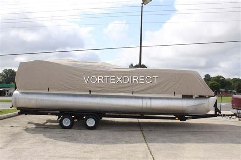 24 ft pontoon boat cover new beige vortex 23 24 ft ultra 5 year canvas cover for
