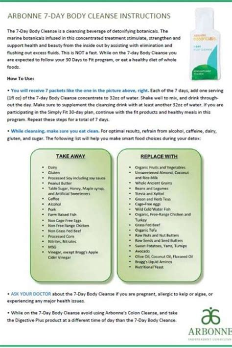 Arbonne Detox Information by 7 Day Cleanse Arbonne And Ask Me On