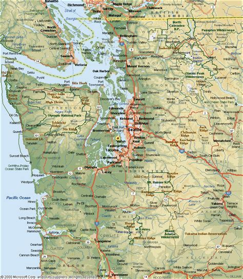 pacific northwest map pacific nw parks