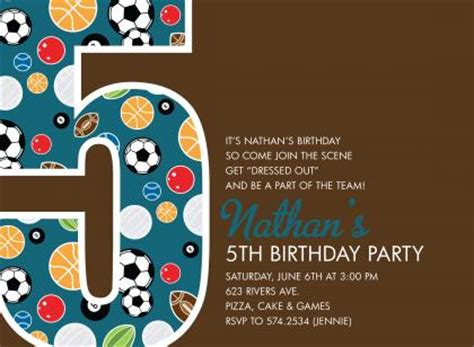 5th Birthday Invitation Card Template by 5th Birthday Invitation Wording Ideas Bagvania Free